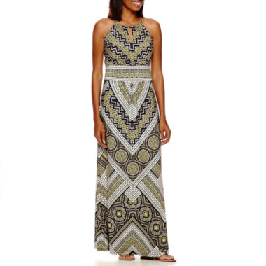 jcpenney.com | London Style Collection Halter Printed Maxi Dress