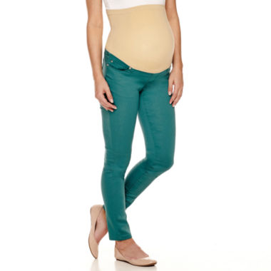 jcpenney.com | Maternity Overbelly Colored Skinny Jeans