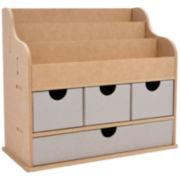 Large File &  4-Drawer Desk Organizer