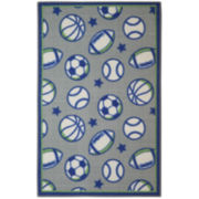 Brumlow Rectangular Sports Accent Rug