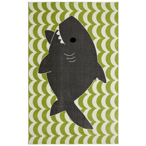 Mohawk Home® Smiling Shark Rectangular Rug