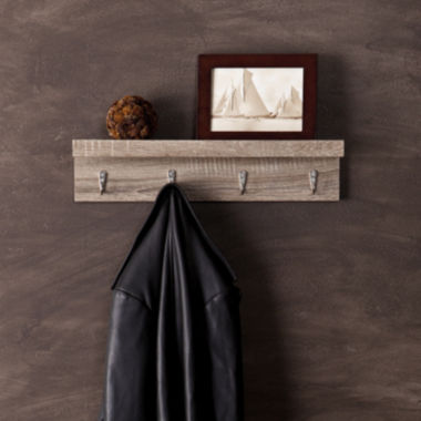 jcpenney.com | Argo Wall Mount Shelf with Hooks Wall Decor