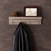 Argo Wall Mount Shelf with Hooks Wall Decor