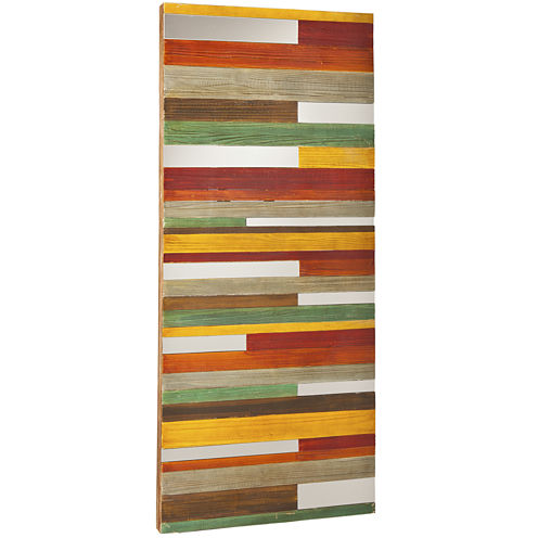 Swice Striped with Mirror Slices Wall Decor