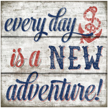 jcpenney.com | Everyday is a New Adventure Canvas Wall Art