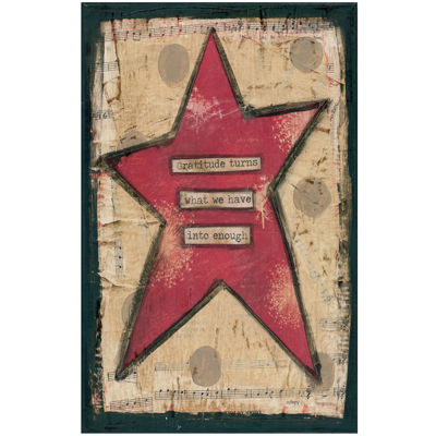 Gratitude Star Canvas Wall Art