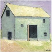 Light Blue Barn Canvas Wall Art