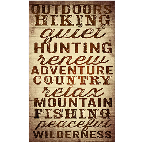 Outdoor Life Canvas Wall Art