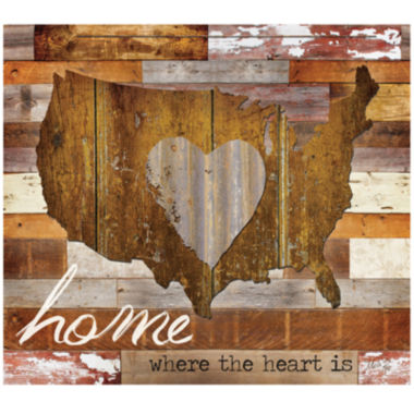 jcpenney.com | Home Where the Heart Is Canvas Wall Art