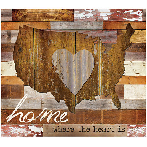Home Where the Heart Is Canvas Wall Art