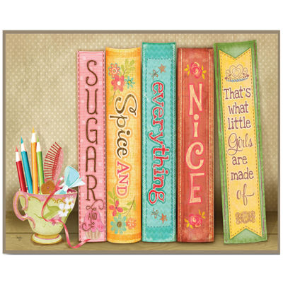 Sugar and Spice Everything Nice Canvas Wall Art