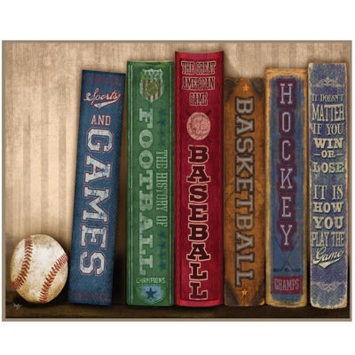 Sports Library Canvas Wall Art