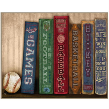 jcpenney.com | Sports Library Canvas Wall Art