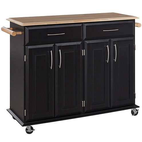 Dolly Madison Rolling Kitchen Island with Towel Rack