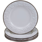 Certified International Solstice Set of 4 Cream Dinner Plates
