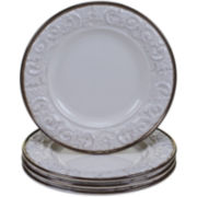 Certified International Solstice Set of 4 Cream Salad Plates