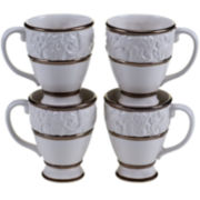 Certified International Solstice Set of 4 Cream Mugs