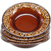 Certified International Solstice Set of 4 Brown Pasta Bowls