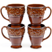Certified International Solstice Set of 4 Mugs