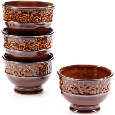 jcpenney.com | Certified International Solstice Set of 4 Brown Ice Cream Bowls