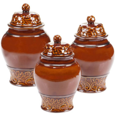 jcpenney.com | Certified International Solstice 3-pc. Canister Set