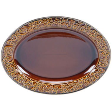 "jcpenney.com | Certified International Solstice 16x12"" Oval Serving Platter"