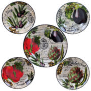 Certified International Botanical Veggies 5-pc. Pasta Bowl Serving Set
