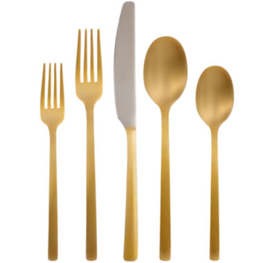 jcpenney.com | Cambridge® Everyday Bourne Gold Mirror 20-pc. Flatware Set