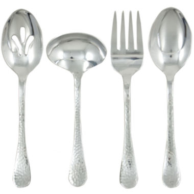 jcpenney.com | Ginkgo® Lafayette 4-pc. Hammered Hostess Set