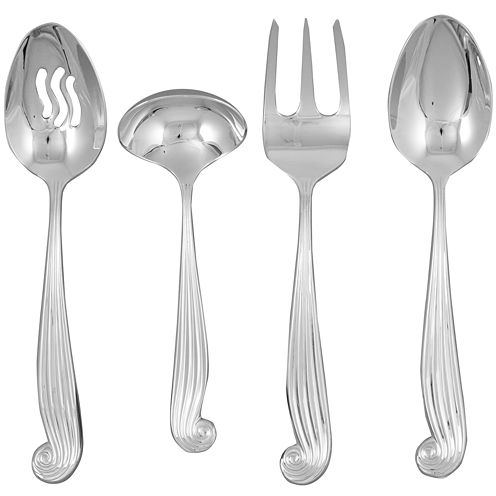 Ginkgo® LaMer™ 4-pc. 18/10 Stainless Steel Hostess Set