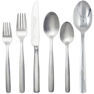 jcpenney.com | Ginkgo® Simple 42-pc. 18/10 Stainless Steel Flatware Set