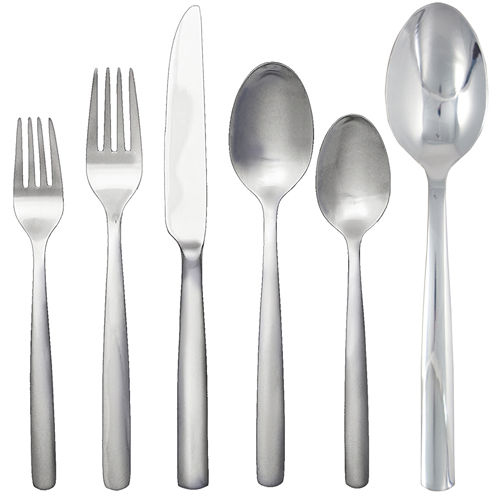 Ginkgo® Simple 42-pc. 18/10 Stainless Steel Flatware Set