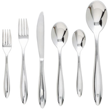 jcpenney.com | Ginkgo® Fontur™ Platinum 42-pc. Flatware Set