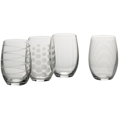 jcpenney.com | Mikasa® Cheers Set of 4 Stemless Wine Glasses