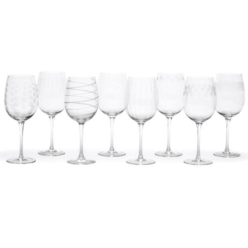 Mikasa® Cheers Set of 8 White Wine Glasses