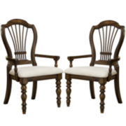 Tucker Hill Wheat Set of 2 Back-Arm Chairs