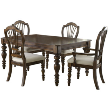 jcpenney.com | Tucker Hill Wheat Whitewash Pine 5-pc. Dining Set