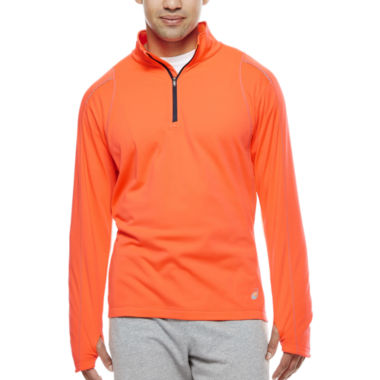 jcpenney.com | Asics® Long-Sleeve Mechanical Stretch Quarter-Zip Shirt