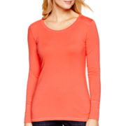 a.n.a® Essential Long-Sleeve T-Shirt- Petite