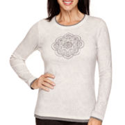 Made For Life™ Long-Sleeve Medallion Foil Print T-Shirt
