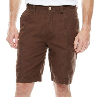 jcpenney.com | Island Shores™ Linen-Cotton Cargo Shorts