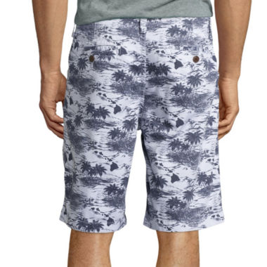 "jcpenney.com | Arizona Printed 10¼"" Inseam Flat-Front Shorts"