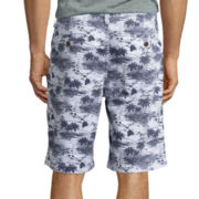 Arizona Printed Flat-Front Shorts