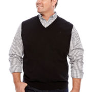IZOD® Solid Sweater Vest - Big & Tall