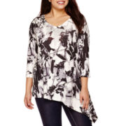 Unity World Wear® 3/4-Sleeve Asymmetric Tunic