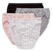 Hanes® 4-pk. Ultimate Cotton Hi-Cut Panties - 43KU