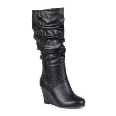 jcpenney.com | Journee Collection Hana Womens Slouch Wedge Heel Boots