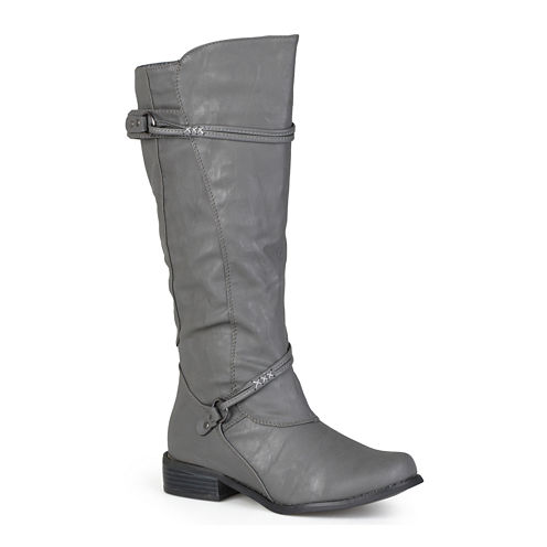Journee Collection Harley Riding Boots - Extra Wide Calf