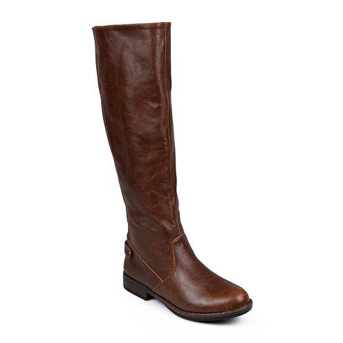 Journee Collection Lynn Womens Stretch Knee-High Riding Boots