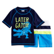 Carter's® Later Gator Rashguard Set - Boys 2t-4t